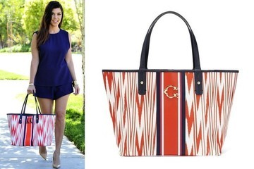 Kourtney Kardashian's Monogram Tote
