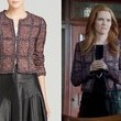 Darby Stanchfield's Purple Tweed Cropped Jacket on 'Scandal'