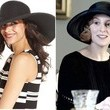 Laura Carmichael's Black Sun Hat on 'Downton Abbey'