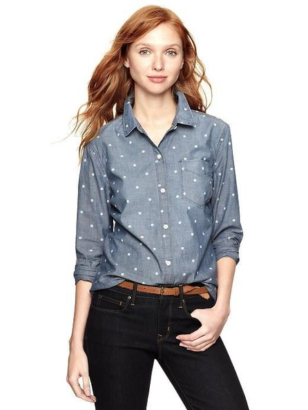 Gap's Chambray Dot Boyfriend Shirt