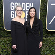 Meryl Streep (in Vera Wang) and Ai-jen Poo