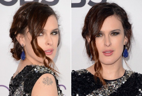 How to Get Rumer Willis' Textured Twist Updo