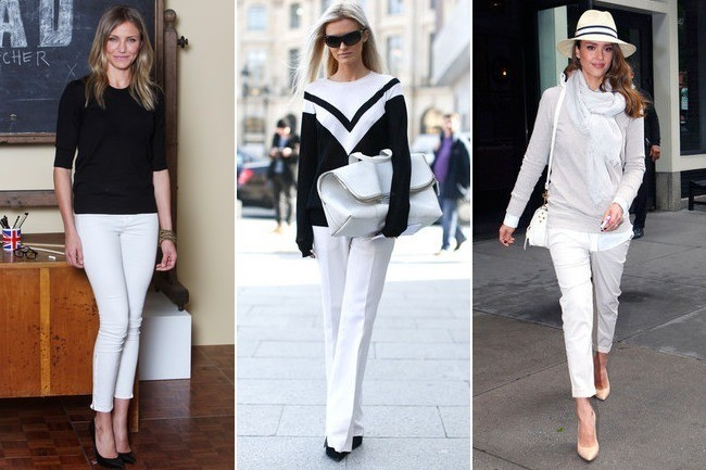 What To Wear With White Pants Stylebistro