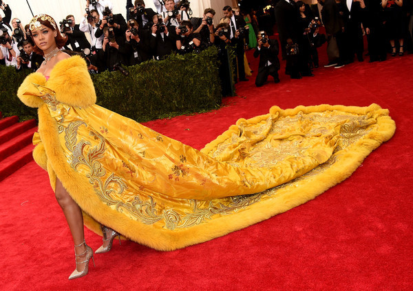 Rihanna (in Guo Pei Couture) as Belle