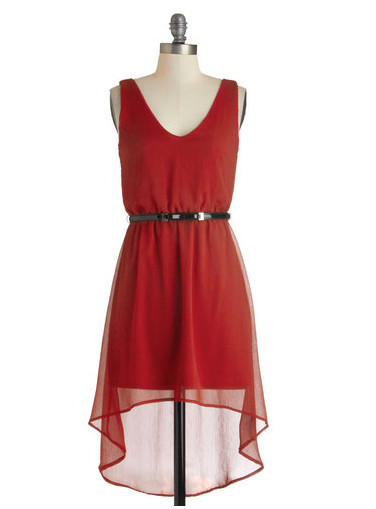 An Easy Deep Red Number to Wear Over and Over Again
