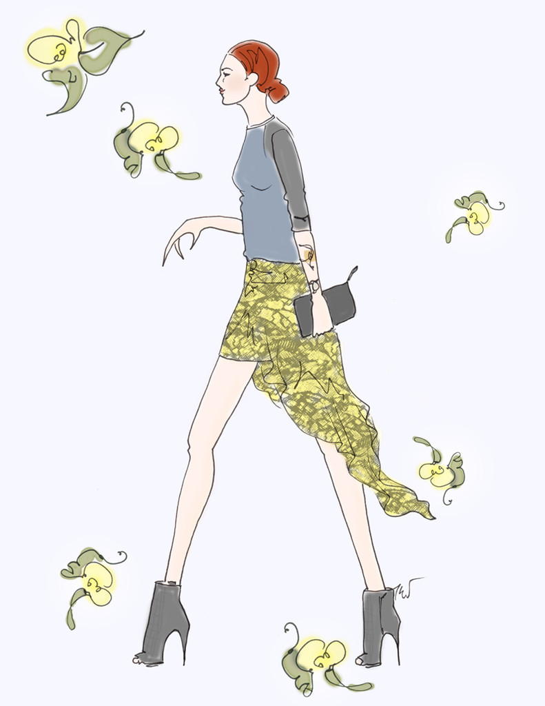 Taylor Tomasi Hill Sketch Outfit