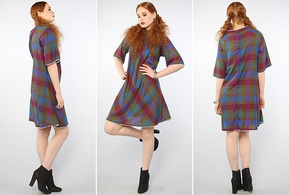 Vintage-Inspired Plaid