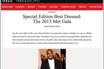 Guess Who 'Vogue' Cropped Out of Its Met Gala Slideshow?