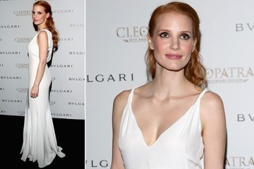 Jessica Chastain's Soft White Gown