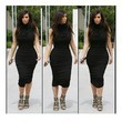 Kim Kardashian Looks Fierce in an LBD