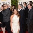 Lea Michele in Elie Saab at the 2013 Golden Globes