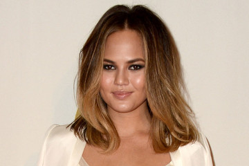 Chrissy Teigen's Ivory Suit-and-Crop-Top Combo