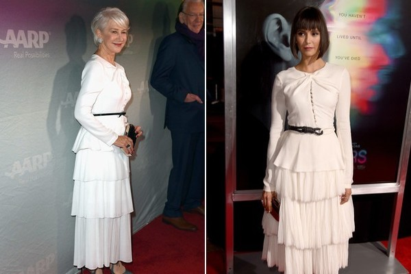 Helen Mirren and Nina Dobrev in Prabal Gurung