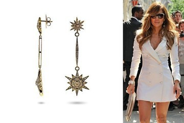 Twinkle Twinkle: Jennifer Lopez in H. Stern Star Earrings