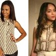 Ashley Madekwe's Chain Print Blouse on 'Revenge'