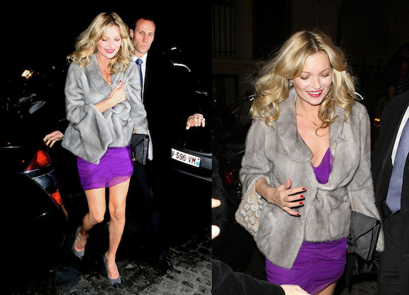 Look of the Day: Kate Moss in Paris