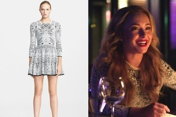 Hayden Panettiere's White Crochet Lace Dress on 'Nashville'