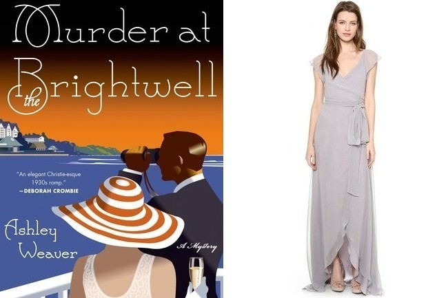 Murder at the Brightwell book and Joanna August Dress