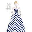 Oscar de la Renta's Candy-Striped Ball Gown