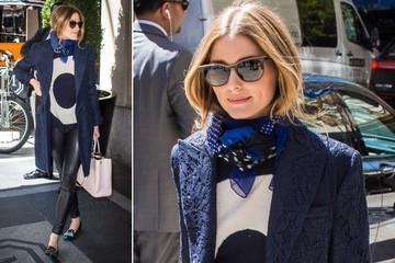 Olivia Palermo Mixes Blue and Black Like a Pro