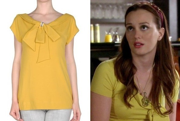 Leighton Meester's Yellow Sweater on 'Gossip Girl'