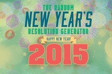 The Random New Year's Resolution Generator