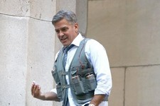 Here's George Clooney Wearing a Bomb in His New Movie