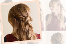 Hair How To: The Rodarte-Inspired Half-Up Braid