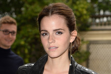 Emma Watson Mixes Leather and Lace