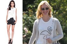 Found: January Jones's Flamingo Muscle Tee