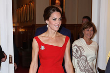 Look of the Day: Kate Middleton's Scarlet Number