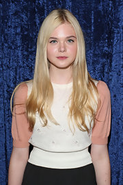 Elle Fanning wore a touch of berry lip stain at a party for the DVD launch of 'Super 8.'