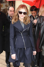 We loved Chloe's fitted asymmetrical jacket she wore to the Christian Dior Couture show in Paris.