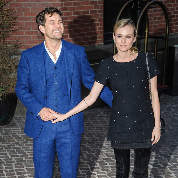 Actress Diane Kruger and Joshua Jackson arrive at the New York screening of 'The Host' in New York.