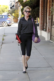 Melanie Griffith suited up in these ultra-cropped leggings for a yoga class in LA.