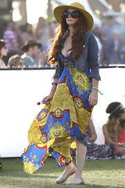 Phoebe Price rocked a flowing maxi dress at Coachella.
