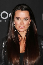Kyle Richards stepped out to an 'Real Housewives of Beverly Hills' evening Las Vegas wearing pale frosty pink lipstick.