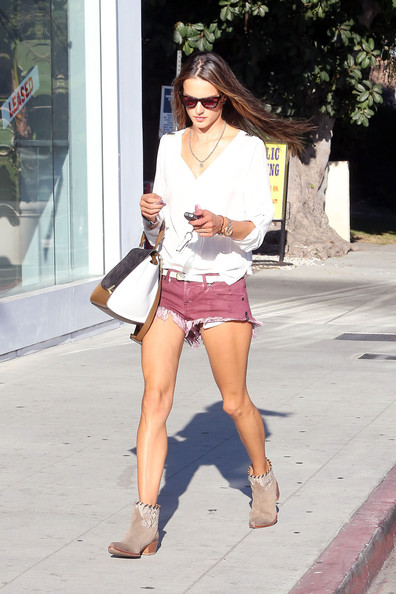 Alessandra Ambrosio Denim Shorts