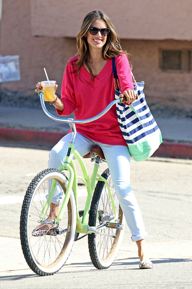 Alessandra Ambrosio V-neck Sweater