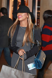 Alexandra Burke wore this cute cropped jacket with leather insets for an outing in LA.