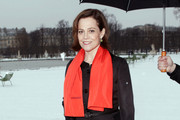 Sigourney Weaver at the Dior Spring Summer 2013 Fashion Show, held at Jardin des Tuileries in Paris.