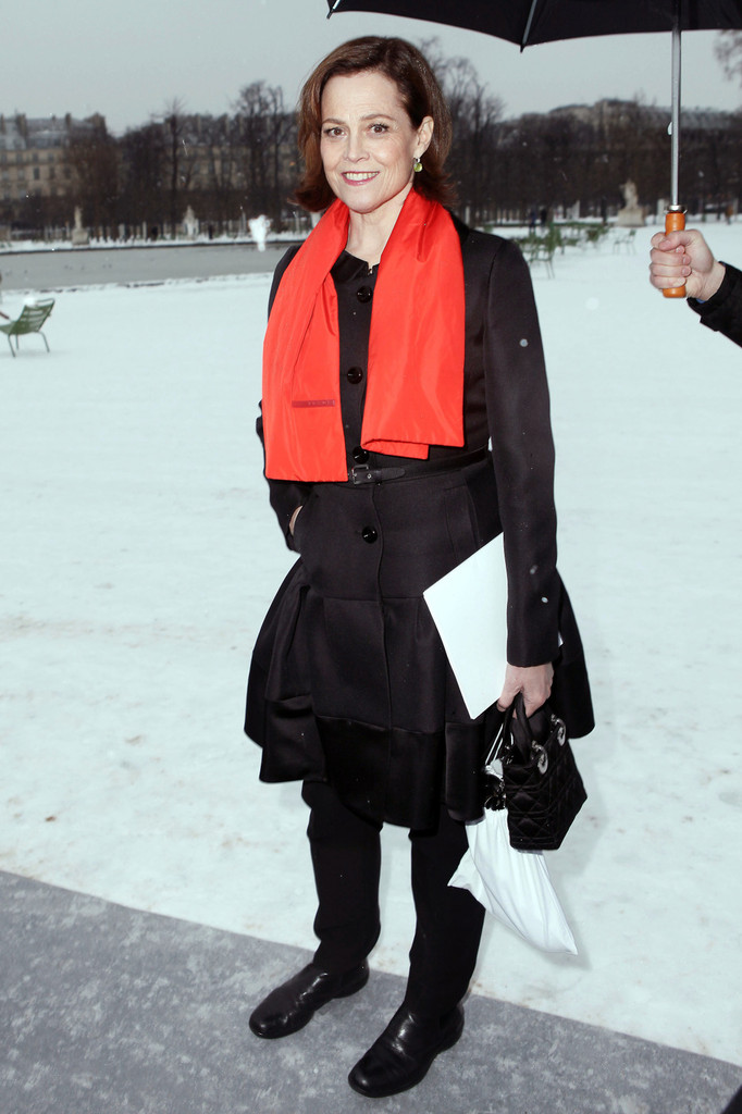 Alexandra Golovanov  at the Dior Spring Summer 2013 Fashion Show, held at Jardin des Tuileries in Paris
