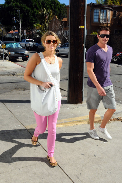 """""""The Bachelorette"""" Ali Fedotowsky and her new boyfriend Charlie Ritchie have lunch together in Hollywood"""