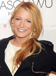 Blake Lively wore her strawberry locks in a loose low ponytail at the launch of Jason Wu for Target.