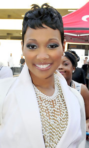 Monica showed off her signature short wavy locks at the BET Awards.