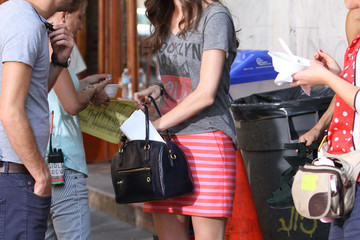 Allison Williams Jemima Kirke Jemima Kirke on the Set of 'Girls' in New York City