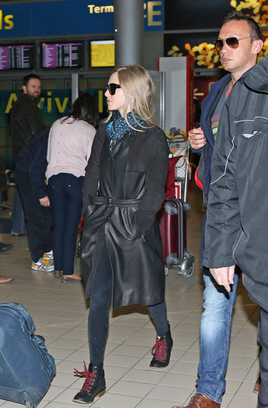 Amanda Seyfried at Roissy Charles de Gaulle airport in Paris