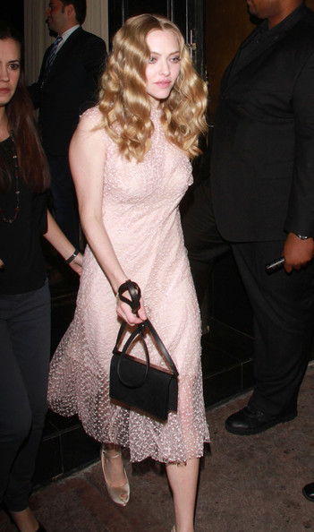 Amanda Seyfried Leather Shoulder Bag