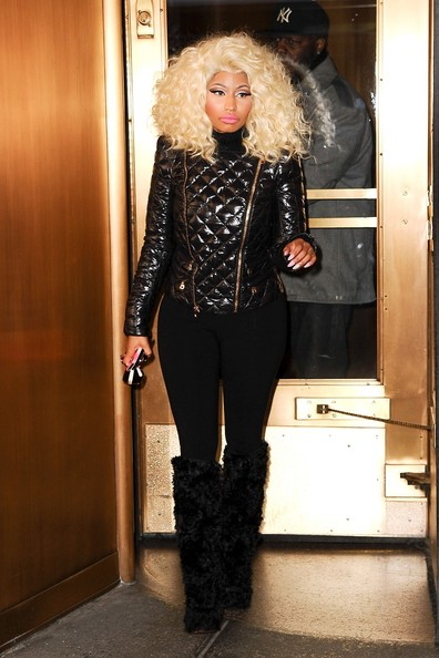 More Pics of Nicki Minaj Over the Knee Boots (4 of 18) - Over the Knee Boots Lookbook - StyleBistro