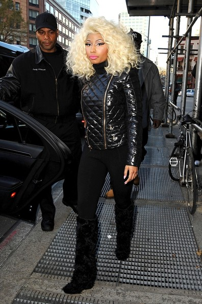 More Pics of Nicki Minaj Over the Knee Boots (3 of 18) - Over the Knee Boots Lookbook - StyleBistro